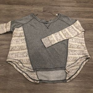 Free People High Low Crewneck Sweater Size M